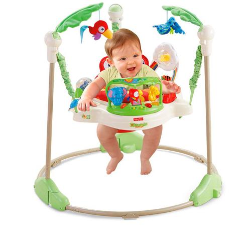 ベビージャンプおもちゃは、フィッシャープライスのジャンパルー使ってました。