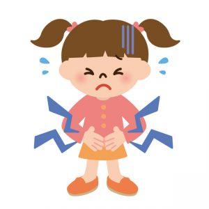 インフルエンザB型 症状 腹痛
