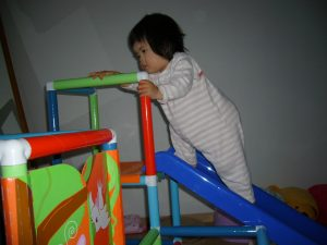 1歳 滑り台